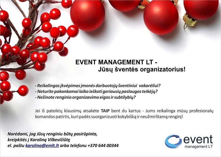 EVENT MANAGEMENT LT - Jūsų šventės organizatorius!