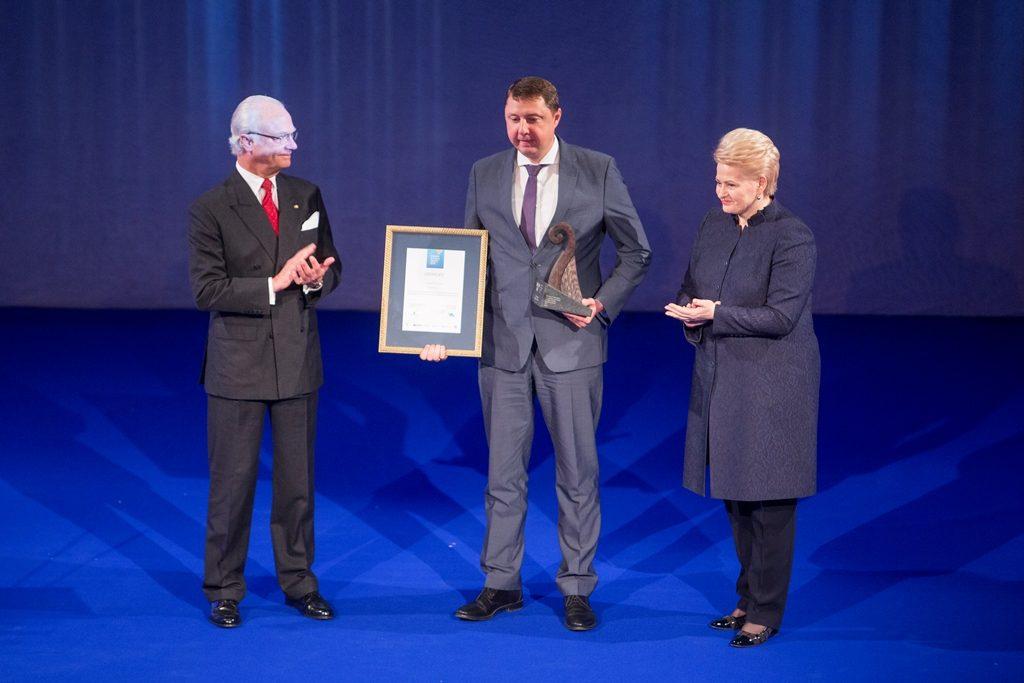 Enerstenai - Švedijos verslo apdovanojimas ir karališkosios poros sveikinimai