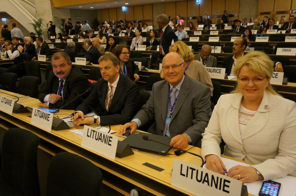 Į Ženevą atvyko socialinės apsaugos ir darbo ministrė