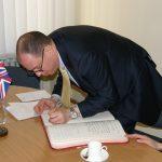 Jungtinės Karalystės ambasadoriaus  David John Hunt vizitas rūmuose