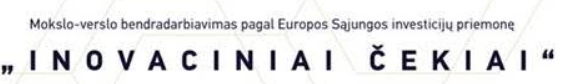"""Renginys apie ES investicijų priemonę """"Inovaciniai čekiai"""""""