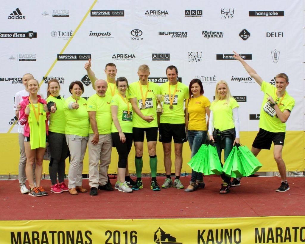 """Tarptautiniame Kauno maratone –  """"SDG"""" pergalė"""