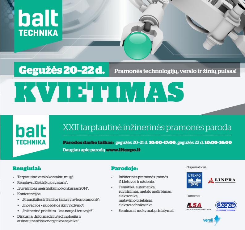 """UAB """"Columbus Lietuva"""" kviečia į parodą """"Balttechnika"""""""