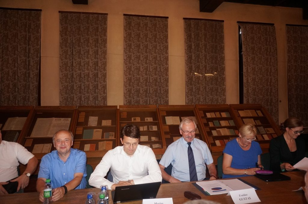 Ūkio ministro Evaldo Gusto vizitas rūmuose