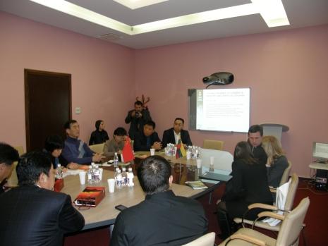 Viešėjo Kinijos delegacija