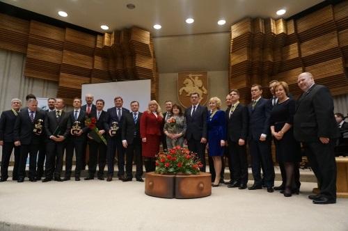 """Vyriausybėje įteikti """"Lietuvos eksporto prizai"""" ir """"Darbo žvaigždės"""""""