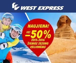 """""""West Express"""" praneša: """"NOVATURO"""" 2015-2016 m. žiemos sezono kelionės jau parduodamos"""