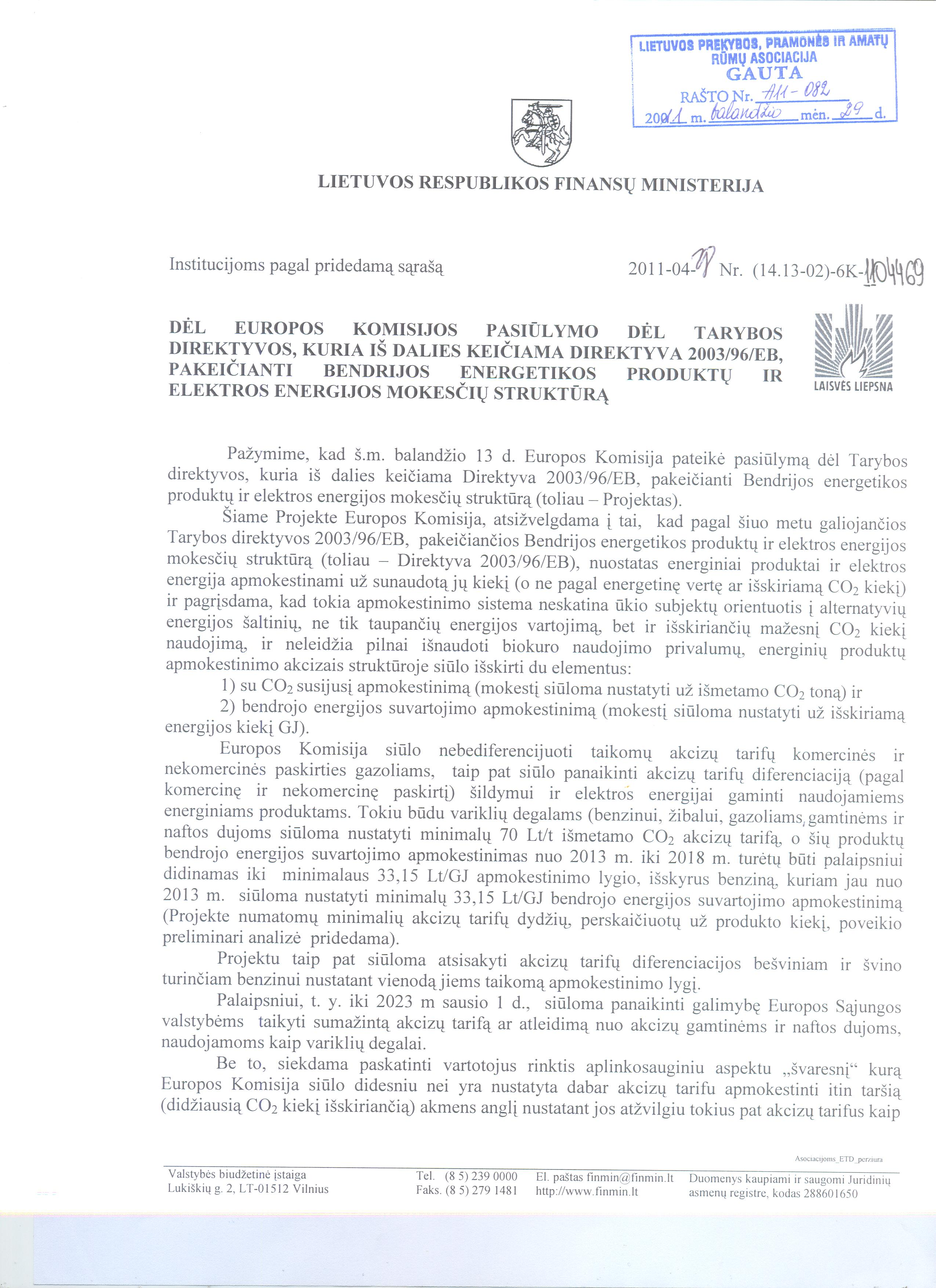 prekybos pasiūlymų mokesčiai)