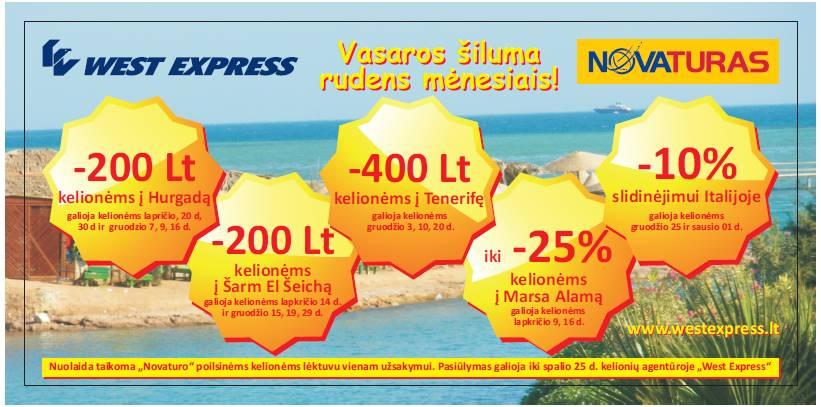 West Express pasiūlymas