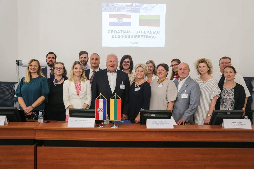Rūmų narių delegacija mezgė verslo ryšius Kroatijoje